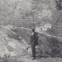 Mercatale. Lo stabilimento Peyron e Giulio Cappelli (fondatore sezione socialista a Vernio)